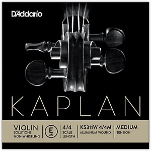 D-Addario-KS-311W-Kaplan-Solutions-4-4-Size-Non-Whistling-Violin-E-String--Wound--Standard