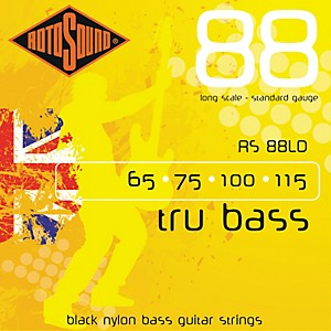 Rotosound-RS88LD-Trubass-Black-Nylon-Flatwound-Bass-Strings-Standard