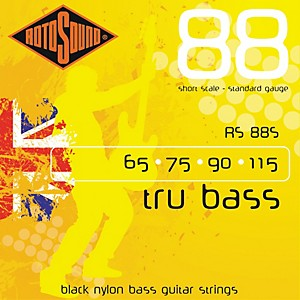 Rotosound-RS88S-Trubass-Black-Nylon-Flatwound-Standard-Gauge-Short-Scale-Bass-Strings-Standard