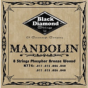 Black-Diamond-Black-Coated-Phosphor-Bronze-Mandolin-Strings-Standard