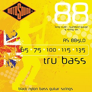 Rotosound-RS885LD-Trubass-Black-Nylon-Flatwound-Strings-Standard