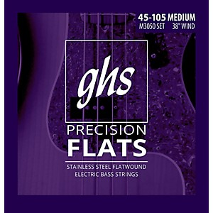 GHS-M3050-Precision-Flatwound-Bass-Strings-Medium-Standard