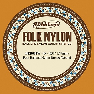 D-Addario-BEB031W-Folk-Nylon-Single-Ball-End-Acoustic-Guitar-String-Standard