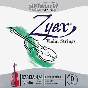 D-Addario-Zyex-4-4-Violin-String-D-Aluminum-Light