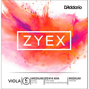 D-Addario-Zyex-Viola-String-G-Medium-Scale-4-4-Silver-Medium