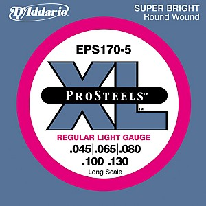 D-Addario-ProSteels-EPS170-5-Regular-Light-5-String-Bass-Strings-Standard
