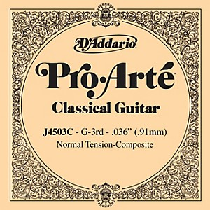 D-Addario-J45-G-3-Pro-Arte-Clear-Normal-Single-Classical-Guitar-String-Standard