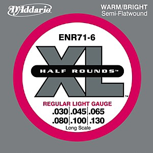 D-Addario-ENR71-6-Half-Rounds-Light-6-String-Bass-Strings-Standard