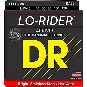 DR-Strings-Lo-Rider-LH5-40-Light-Stainless-Steel-5-String-Bass-Strings-Standard
