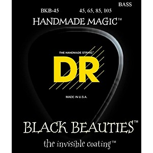 DR-Strings-Black-Beauties-Medium-4-String-Bass-Strings-Standard
