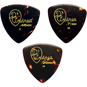 D-Andrea-346-Rounded-Triangle-Celluloid-Guitar-Picks-One-Dozen-Shell-Medium
