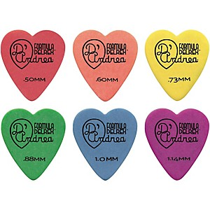 D-Andrea-323-Heart-Delrex-Delrin-Picks-One-Dozen-Green--88MM