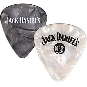 Peavey-Jack-Daniel-s-Pearloid-Guitar-Picks---One-Dozen-Black-Pearl-Medium