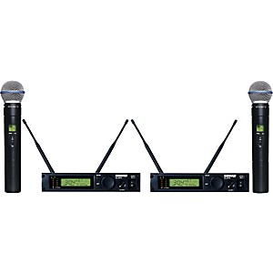 Shure-ULXP24D-BETA58-Dual-Handheld-Wireless-Microphone-System-M1