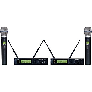 Shure-ULXP24D-BETA87C-Dual-Handheld-Wireless-Microphone-System-M1