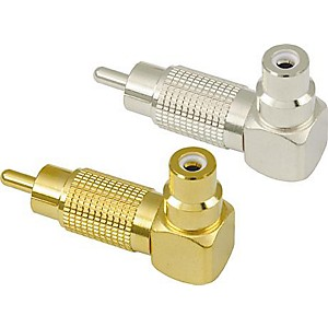 American-Recorder-Technologies-RCA-Male-to-RCA-Female-Right-Angle-Adapter-Gold