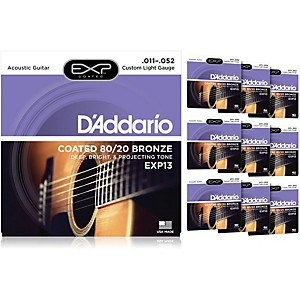 D-Addario-EXP13-Coated-80-20-Bronze-Custom-Light-Acoustic-Guitar-Strings---10-Pack-Standard
