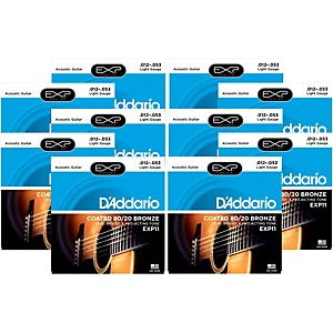 D-Addario-EXP11-Coated-80-20-Bronze-Light-Acoustic-Guitar-Strings---10-Pack-Standard