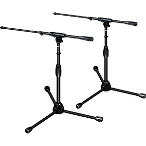 Ultimate-Support-TOUR-T-SHORT-T-Pkg-tripod-base-telescoping-boom-short-height-2-Pack-Standard