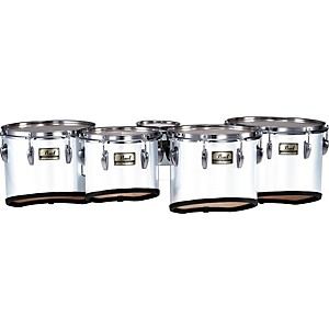 Pearl-PMT-60234-A-Championship-Maple-Marching-Quint-Tom-Set-6--10--12--13--14--33-Pure-White-6-X-8