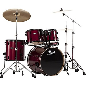 Pearl-VB-Vision-Birch-5-Piece-Shell-Pack-Red-Wine-with-Black-Hardware