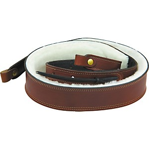 Levy-s-2--Boot-Leather-Sheepskin-Padded-Banjo-Strap-Walnut