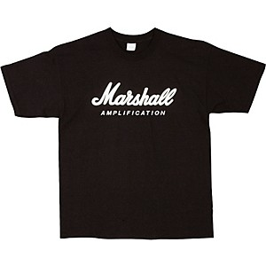 Marshall-Logo-T-Shirt-Black-Medium
