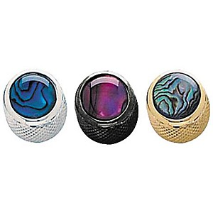 Q-Parts-Shell-Dome-Knob-Single-Black-Natural-Abalone