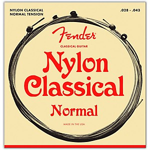 Fender-130-Clear-Silver-Classical-Nylon-Guitar-Strings---Ball-End-Standard