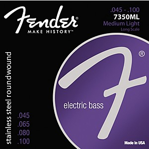 Fender-7350ML-Stainless-Steel-Long-Scale-Bass-Strings---Medium-Light-Standard