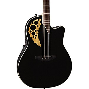 Ovation-Elite-TX-Mid-Depth-Cutaway-Acoustic-Electric-Guitar-Black