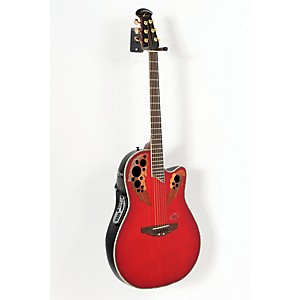 Ovation-iDea-Celebrity-Acoustic-Electric-Guitar-with-Built-In-MP3-Recorder-Cherry-Burst-888365003924