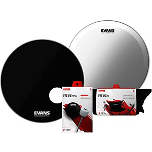Evans-EQ3-System-Pack-Bass-Drumhead-Set-Black