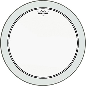 Remo-Powerstroke-3-Clear-Bass-Drumhead-with-White-Impact-Patch-18-Inches