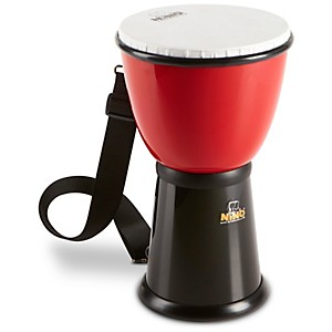 Nino-ABS-Djembe-with-Nylon-Strap-Red-Black-8-Inches