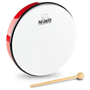Nino-Hand-Drum-with-Beater-Red-10-Inches