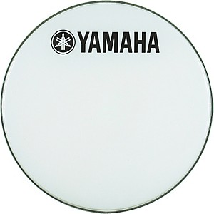 Yamaha-Marching-Bass-Drum-Head-with-Fork-Logo-White-20-Inch