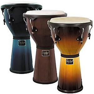 Schalloch-Djembe-Drum-Wine-Red