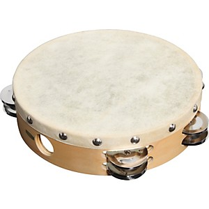 Sound-Percussion-PDM2016M-R-Tambourine-with-Calfskin-Head-8-Inches
