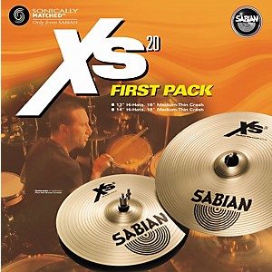 Sabian-Xs20-First-Pack---14--Hi-Hats-and-16--Crash-Cymbal-Standard