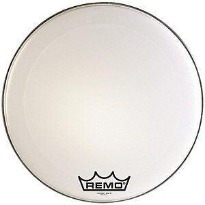 Remo-Powermax-Marching-Bass-Drum-Crimplock-Head-Ultra-White-16-Inches