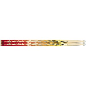 Hot-Sticks-ArtiSticks-Nylon-Tip-Drumsticks-Red-Flame-5B