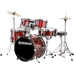 Ludwig-Junior-Outfit-Drum-Set-Wine-Red