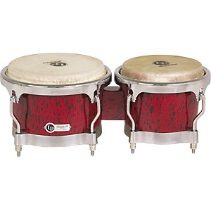 LP-Classic-II-Bongos-with-Chrome-Hardware-Red-Lava