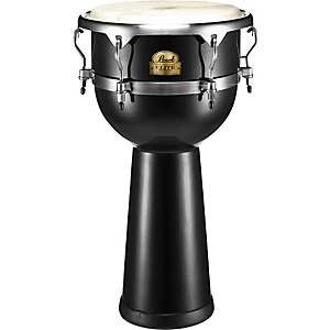 Pearl-Elite-Fiberglass-Djembe-Solid-Black-14-Inches