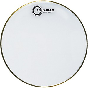 Aquarian-Classic-Clear-Drumhead-Black-10-Inches