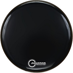 Aquarian-Regulator-Black-Drumhead-Black-22-Inches