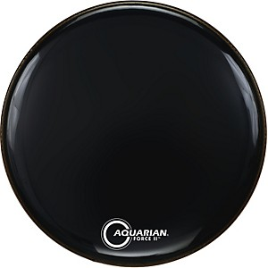 Aquarian-Force-II-Resonant-Bass-Drum-Head-Black-20-Inch