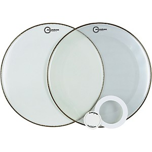 Aquarian-Force-Series-Bass-Drum-Head-Pak-White-22-Inch