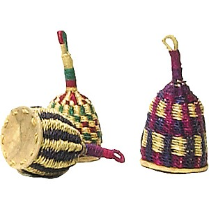 Overseas-Connection-Ghana-Traditional-Caxixi-Rattle-7X3-Inches